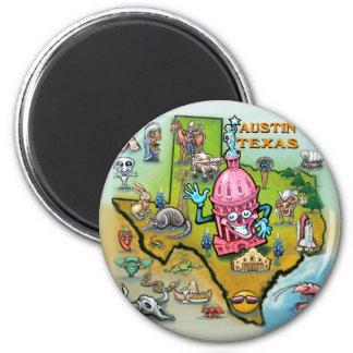Austin TX 2 Inch Round Magnet