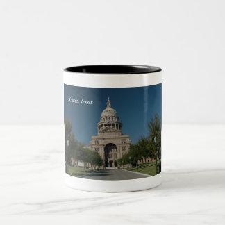 Austin, TX Capitol Building Two-Tone Coffee Mug