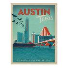 Austin, TX - Congress Avenue Bridge Postcard