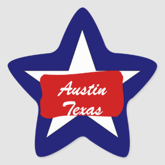 Austin TX  Lone Star State  Luggage Travel sticker