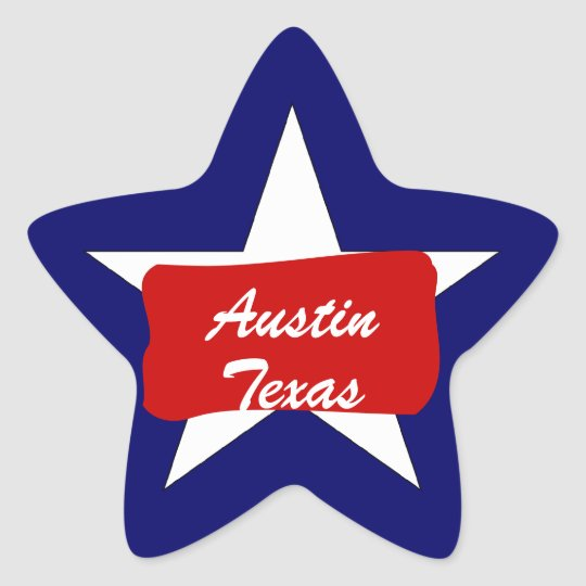 Austin TX  Lone Star State  Luggage Travel sticker