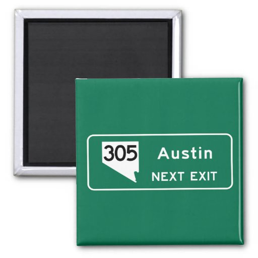 Austin, TX Road Sign Magnet