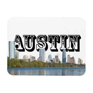 Austin TX Skyline with Austin in the Sky Magnet