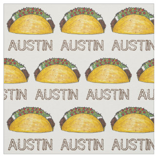 Austin TX Texas Taco Tacos Foodie TexMex Food Fabric