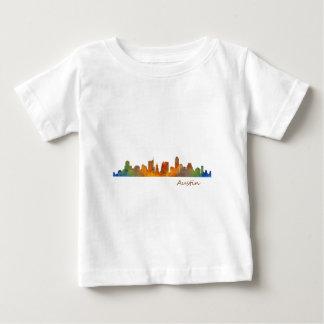 Austin watercolor Texas skyline v1 Baby T-Shirt