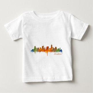 Austin watercolor Texas skyline v2 Baby T-Shirt
