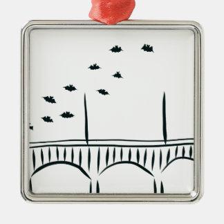 Austin's Congress Bridge Metal Ornament