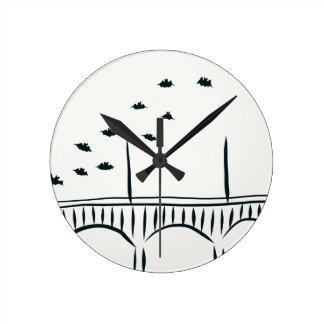 Austin's Congress Bridge Round Clock