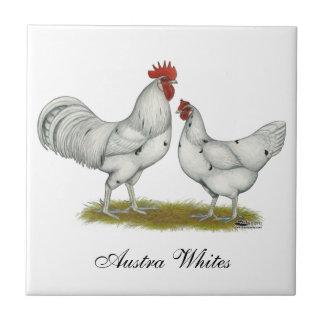 Austra White Chickens Ceramic Tiles