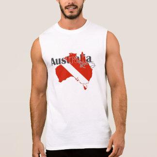 Austrailia Scuba Diving Sleeveless Shirt