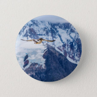 Austral Patagonian Bird Flying 2 Inch Round Button