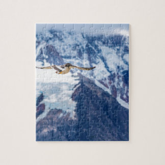 Austral Patagonian Bird Flying Jigsaw Puzzle