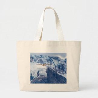 Austral Patagonian Bird Flying Large Tote Bag