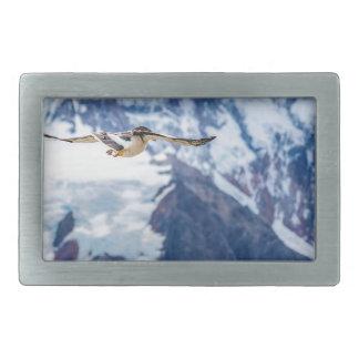 Austral Patagonian Bird Flying Rectangular Belt Buckle