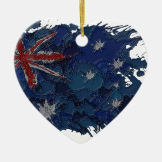 australia2 ceramic ornament
