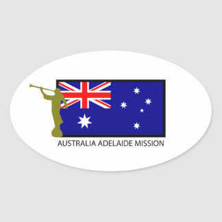 AUSTRALIA ADELAIDE MISSION LDS CTR OVAL STICKER