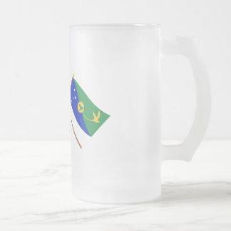 Australia and Christmas Island Crossed Flags Mugs