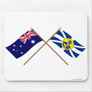 Australia and Lord Howe Island Crossed Flags Mouse Pad