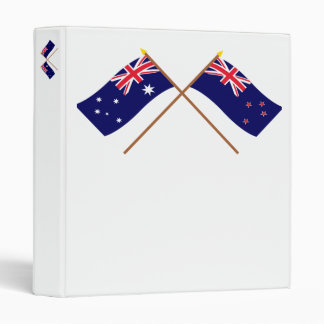 Australia and New Zealand Crossed Flags 3 Ring Binders