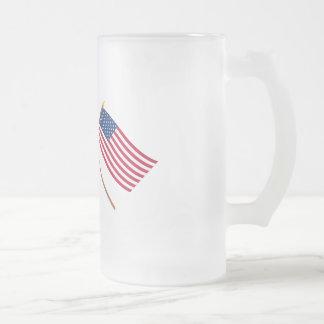 Australia and United States Crossed Flags Mugs