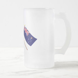 Australia and Victoria Crossed Flags Coffee Mugs