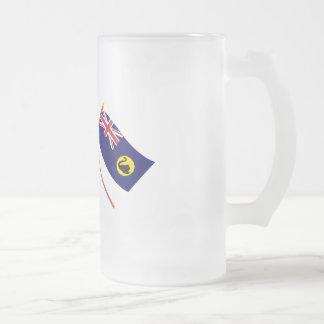 Australia and Western Australia Crossed Flags Coffee Mugs