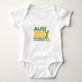 Australia AUS Cricket 2015 World Champions Baby Bodysuit
