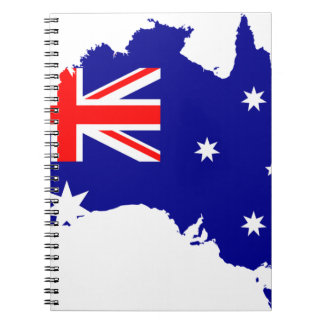 Australia Australia Day Borders Collection Country Spiral Notebook