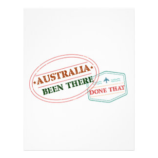 Australia Been There Done That Letterhead