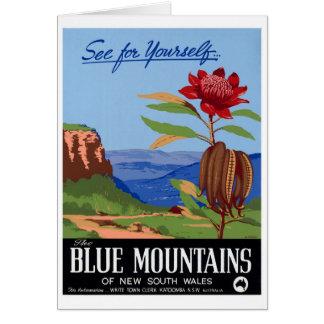 Australia Blue Mountains Restored Vintage Poster Card
