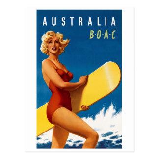 Australia - BOAC Postcard