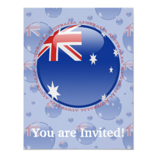 Australia Bubble Flag Card