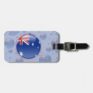 Australia Bubble Flag Luggage Tag