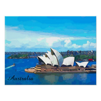 Australia cartoon poster