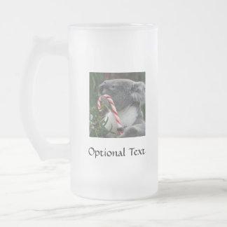 Australia Christmas Koala Bear 16 Oz Frosted Glass Beer Mug