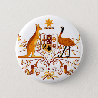 Australia COA Brown 2 Inch Round Button