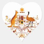 Australia COA Brown Heart Sticker
