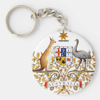 Australia Coat of Arms Basic Round Button Keychain