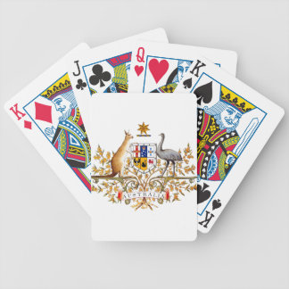 Australia Coat of Arms Bicycle Playing Cards