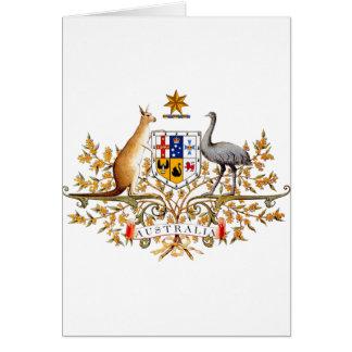 Australia Coat of Arms Card