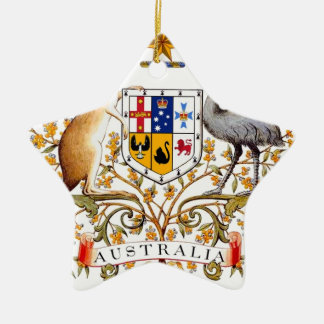 Australia Coat of Arms Ceramic Ornament