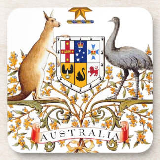 Australia Coat of Arms Drink Coasters