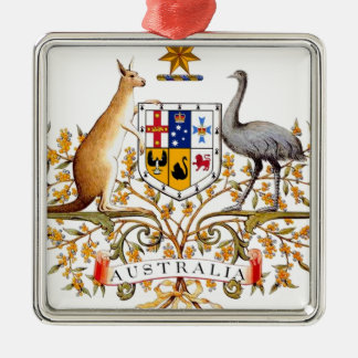 Australia Coat of Arms Metal Ornament