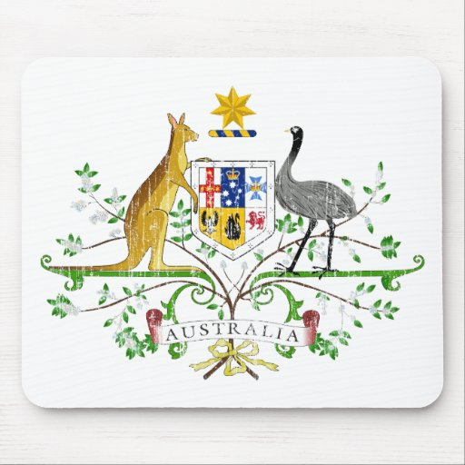 Australia Coat Of Arms Mousepads