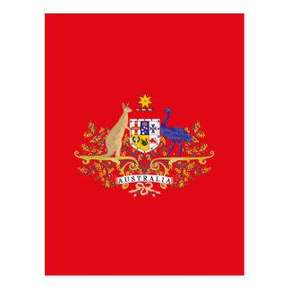 Australia Coat of Arms Postal system Service Postcard