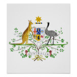 Australia Coat Of Arms Print