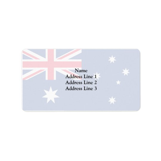 Australia (Converted), Australia flag Label