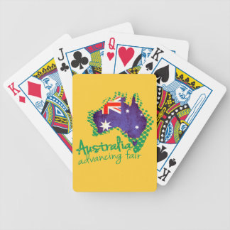 Australia country flag playing cards