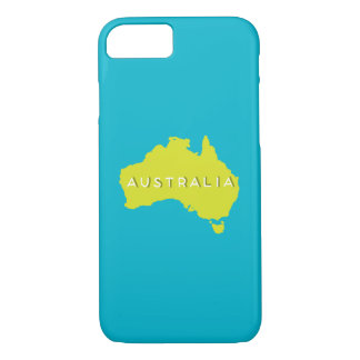 Australia Country Silhouette iPhone 7 Case