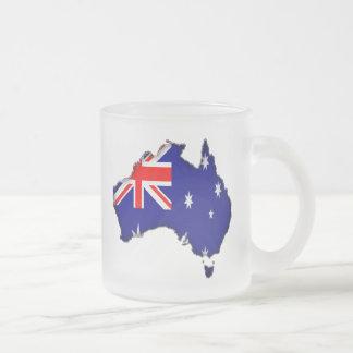 Australia Day 10 Oz Frosted Glass Coffee Mug